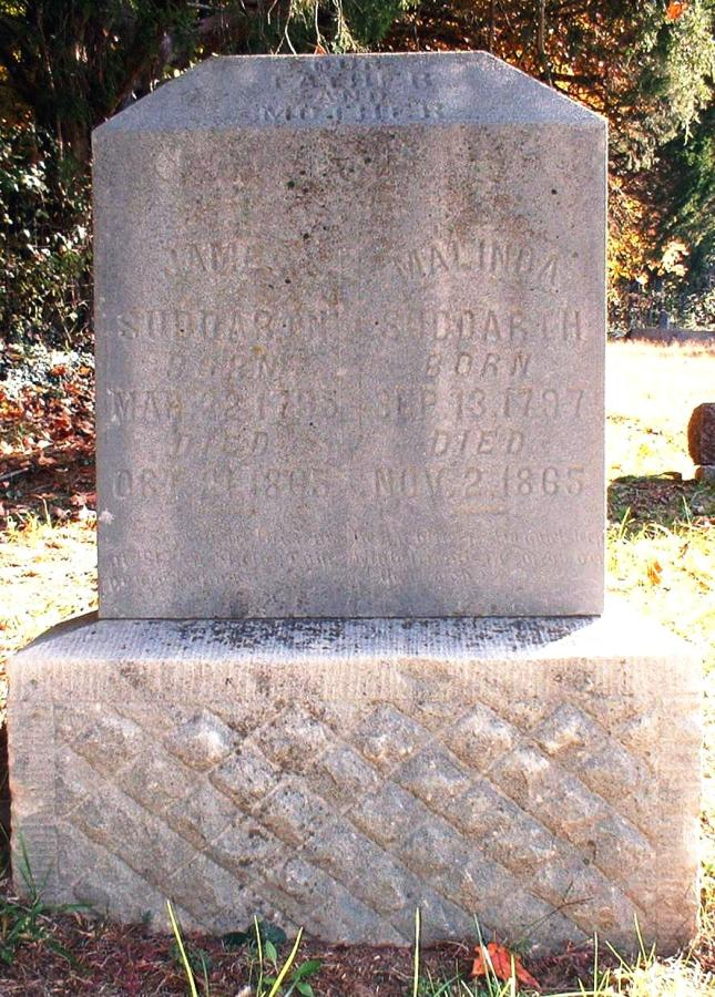 Grave Stone of James and Malinda Suddarth