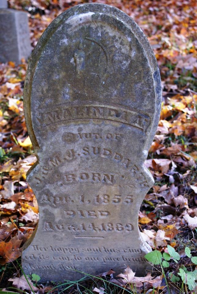Malinda Suddarth's gravestone in Marengo Cemetery