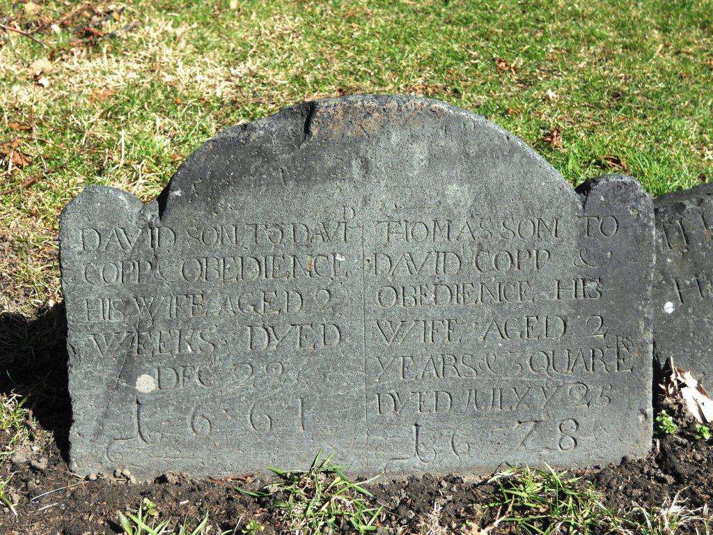 David and Thomas Copp Grave Marker